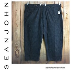 🐞NWT Men's SEAN JOHN Relaxed Fit gray Denim jean